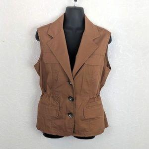 CHRISTOPHER & BANKS Womens Stretch Cotton Vest